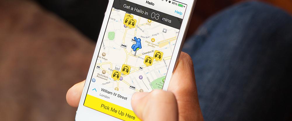 Hailo passenger app